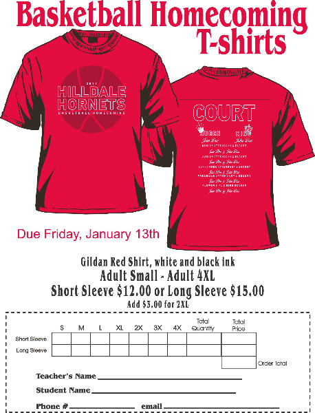 Hilldale Public s - Basketball Homecoming Shirts on