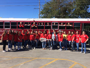 FCCLA in front of bus