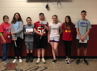 Middle School April Character Winners